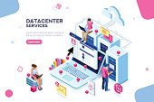 Datacenter Concept Vector Design
