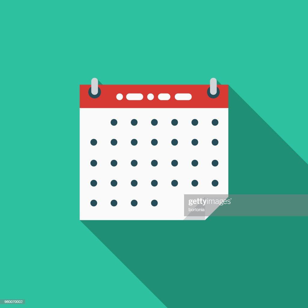 Datum flache Wahlen Designikone mit Seite Schatten : Stock-Illustration