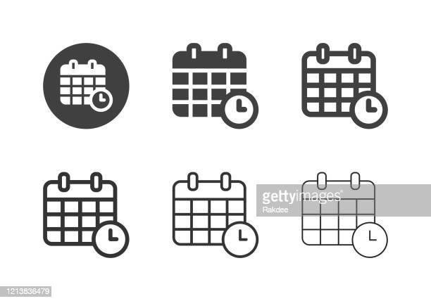 日付時刻アイコン - マルチシリーズ - 電子手帳点のイラスト素材/クリップアート素材/マンガ素材/アイコン素材