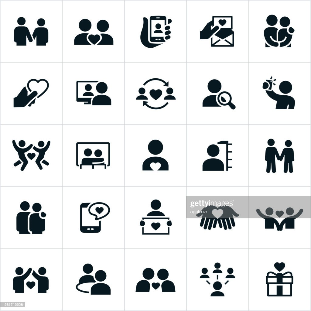 Dating and Couples Relationships Icons : stock illustration