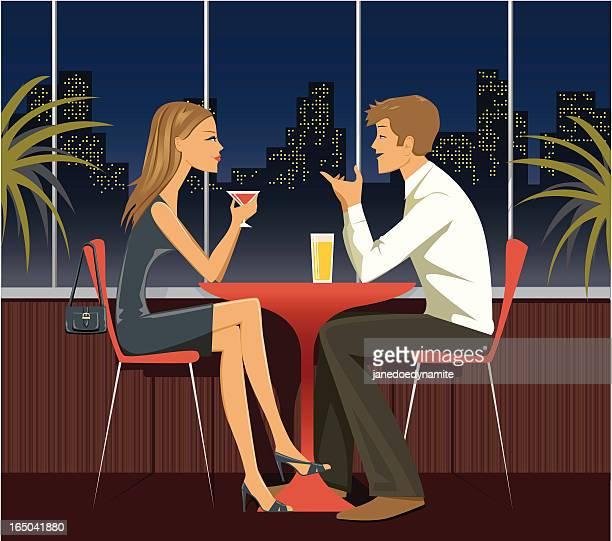dating - series - flirting stock illustrations, clip art, cartoons, & icons