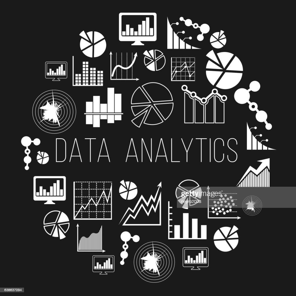 Datum analytics label or data informatics vector badge