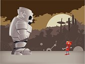David and Goliath Fighting Robots, Illustration