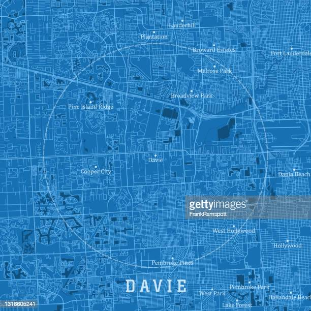 デイビーfl都市ベクトルロードマップブルーテキスト - フロリダ州 デイヴィー点のイラスト素材/クリップアート素材/マンガ素材/アイコン素材