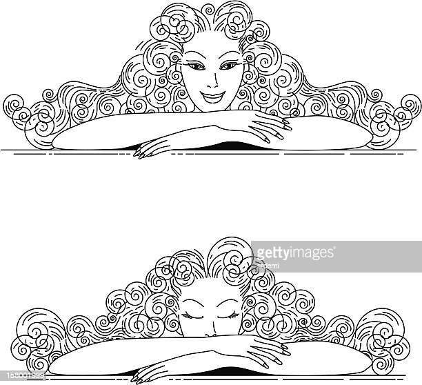day and night - eyes closed stock illustrations, clip art, cartoons, & icons