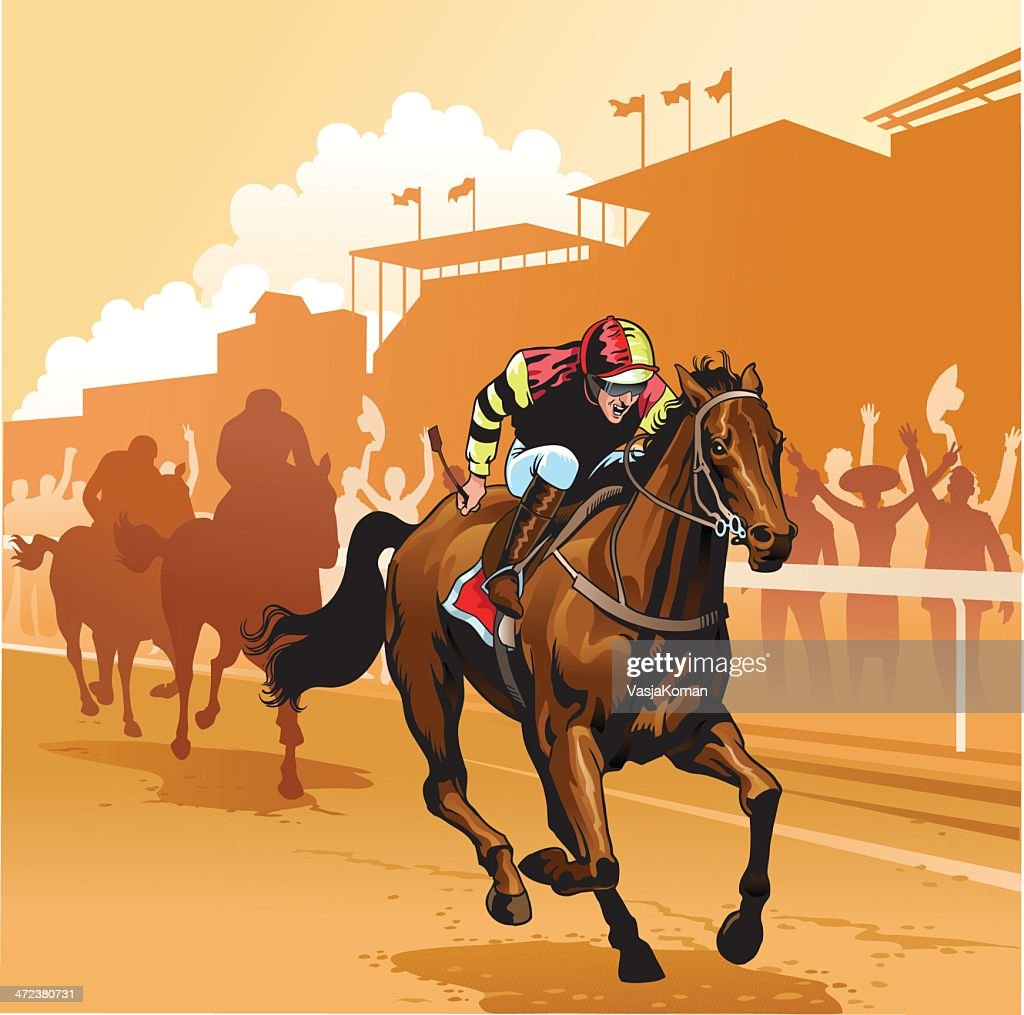 Day at the Races : Stock Illustration