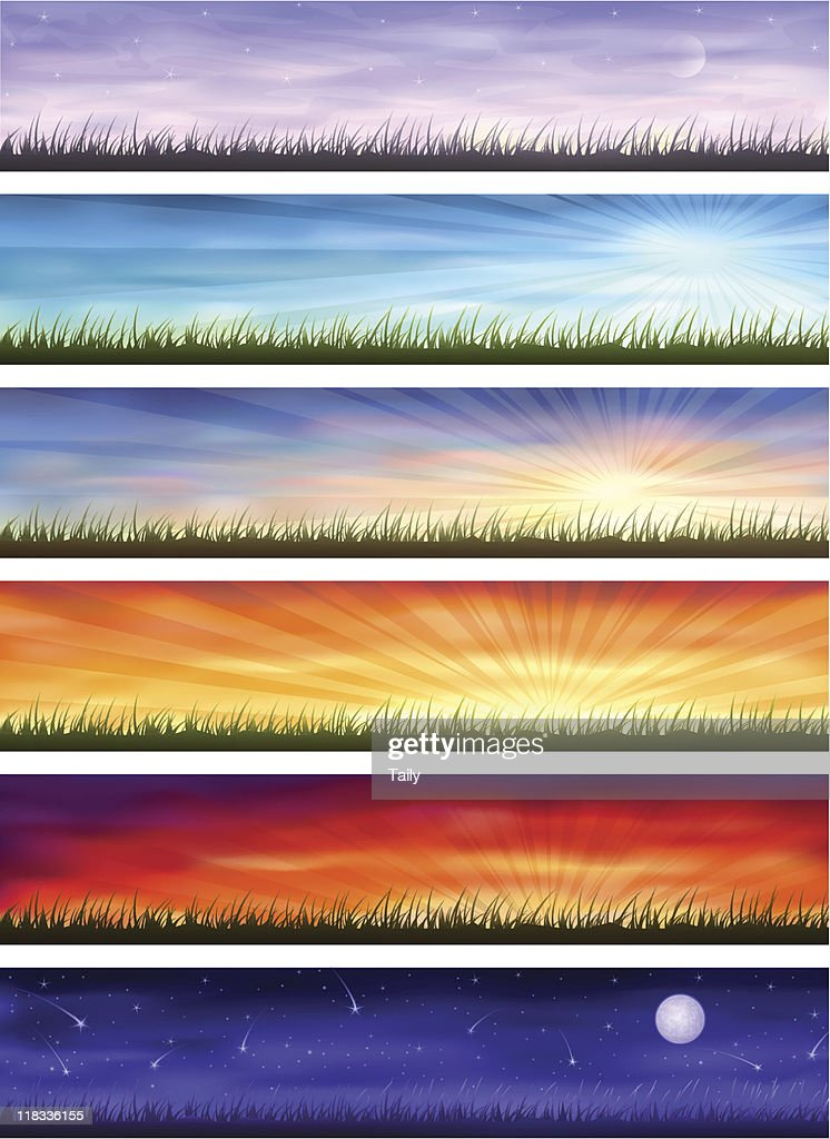 Day cycle - same landscape at different times