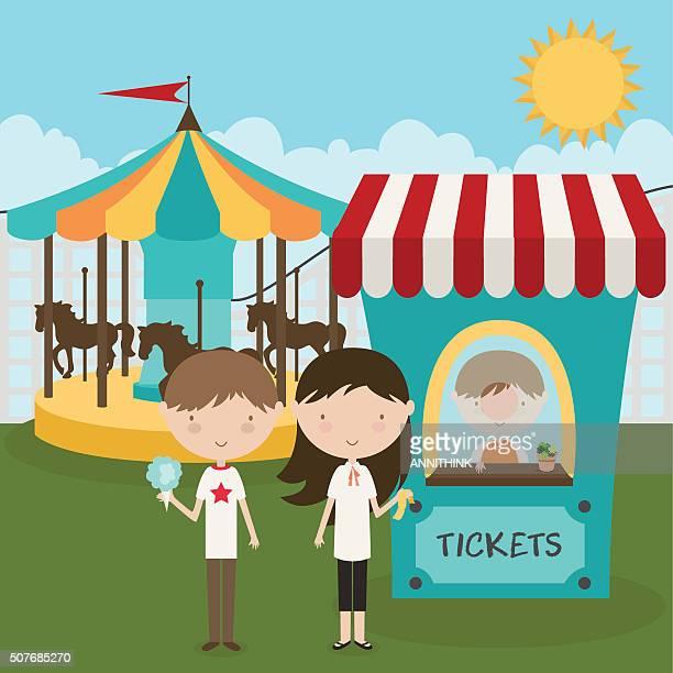 ilustrações, clipart, desenhos animados e ícones de feira dia de diversão - festival tradicional