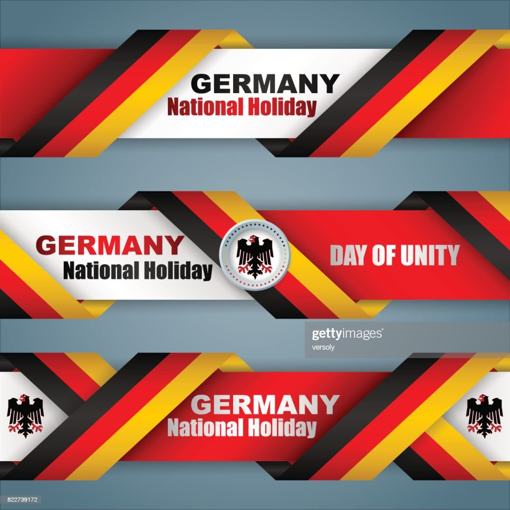Day of German Unity, web banners
