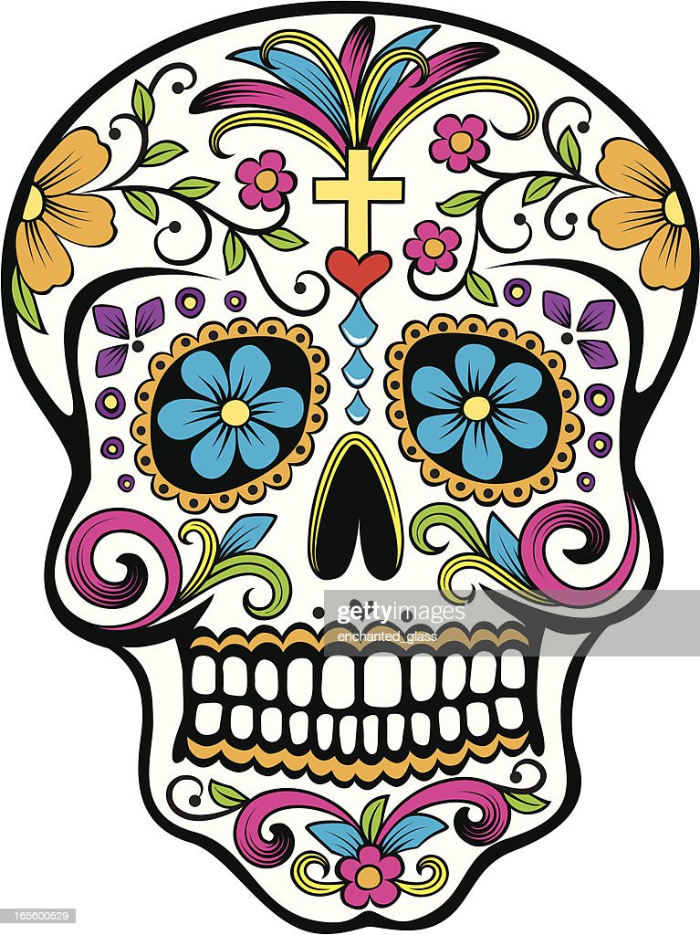 Day of the Dead celebration Sugar Skull : stock illustration