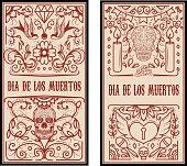 Day of the dead. Dia de los muertos. Set of banner templates.