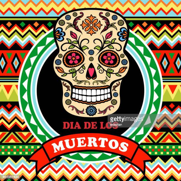 day of the dead poster - tapestry stock illustrations