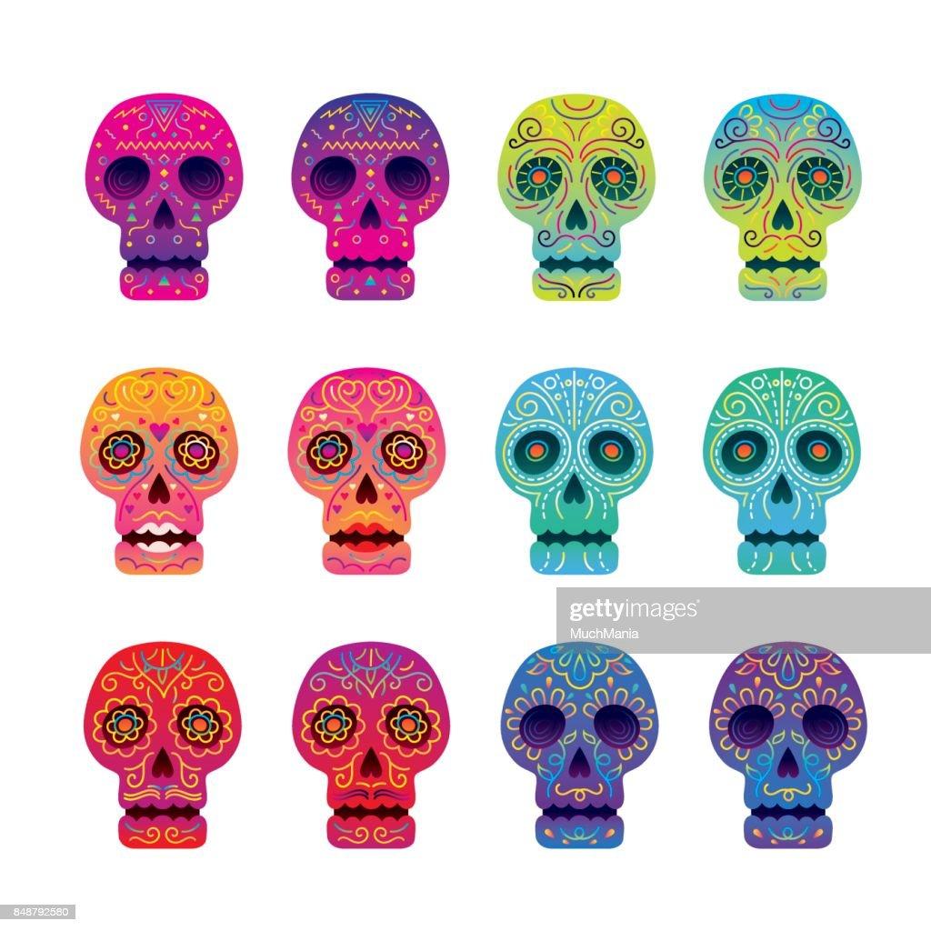 Day of the Dead Skull Set