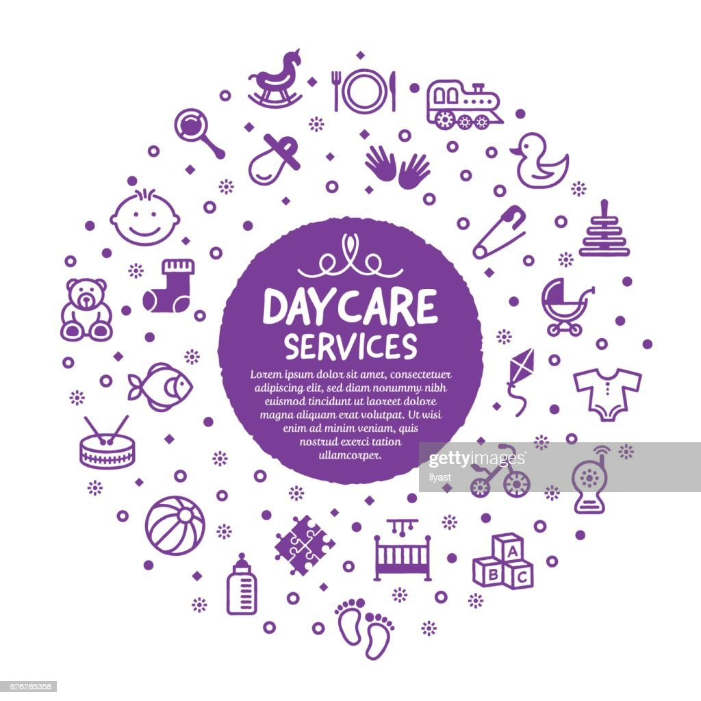 Daycare Services Poster : stock illustration