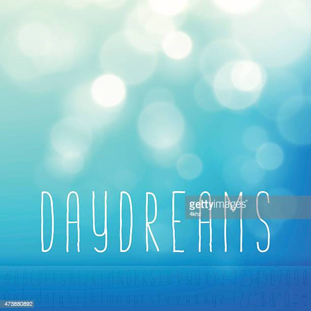 Daydreams Stock Vector Background Word Blue Sky Text Alphabet