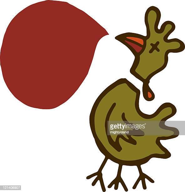 ilustraciones, imágenes clip art, dibujos animados e iconos de stock de dead de pollo - matadero