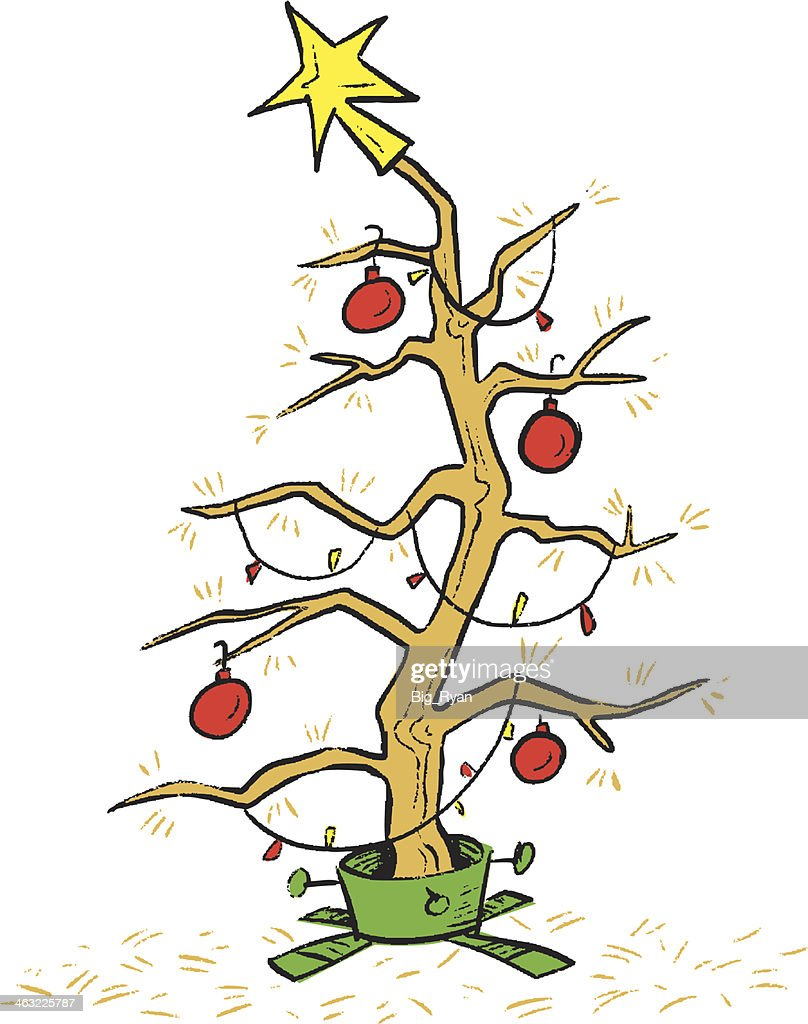 dead christmas tree vector art