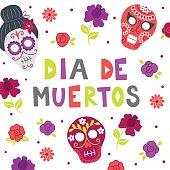 Dead day (Dia de los muertos) greeting card