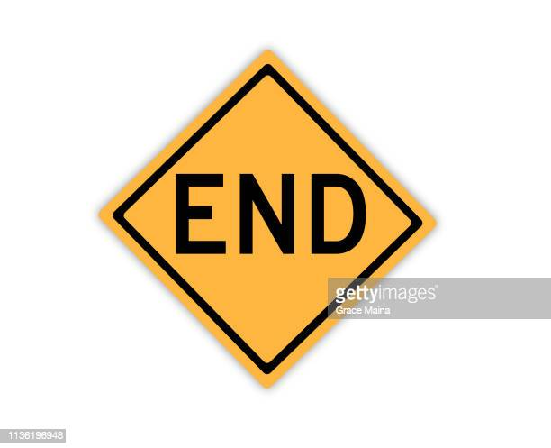 dead end road or street sign symbol - the end stock illustrations