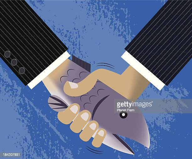 dead fish handshake - flaccid stock illustrations, clip art, cartoons, & icons