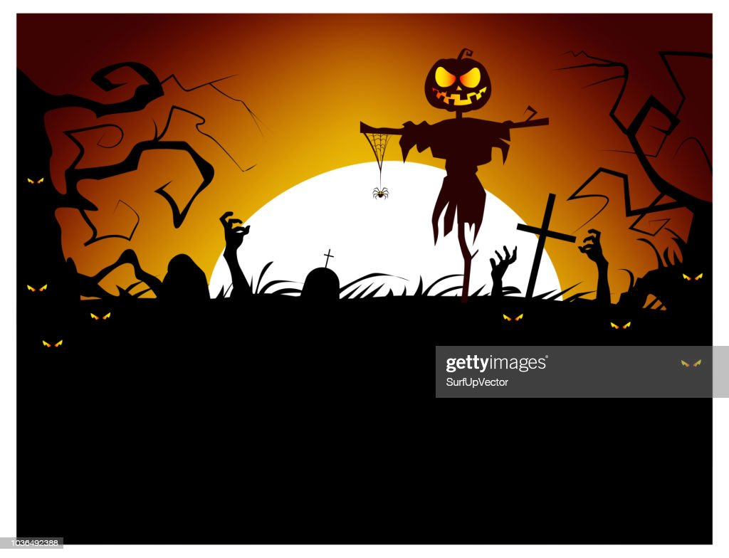 Dead men coming out of ground vector illustration