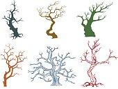 Dead tree vector illustration