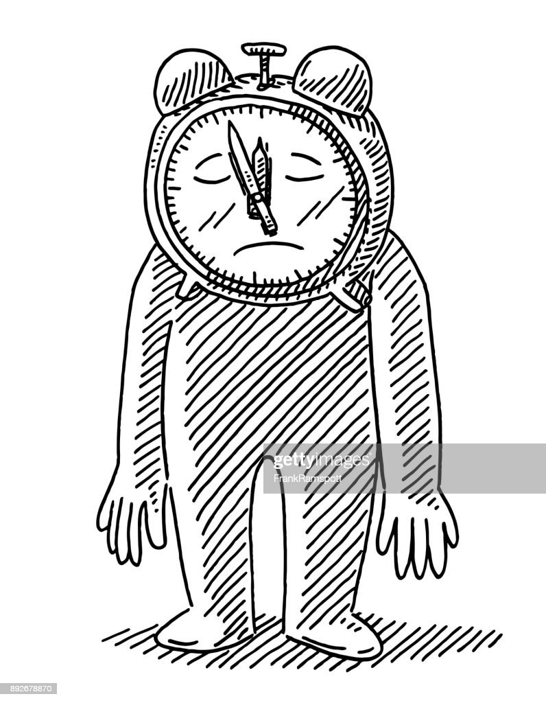deadline depression alarm clock man drawing vector art getty images Bell Alarm Clock deadline depression alarm clock man drawing vector art