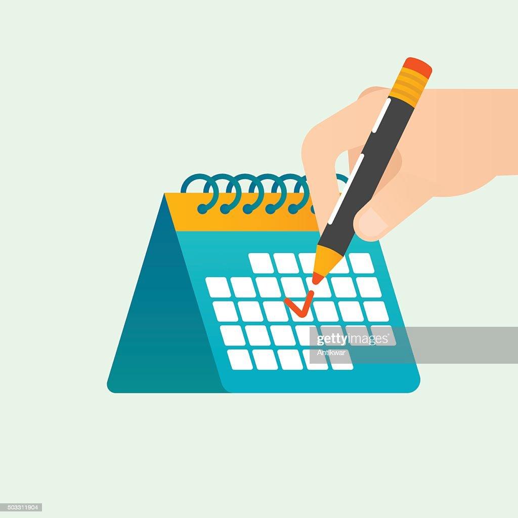 Deadline time management vector concept