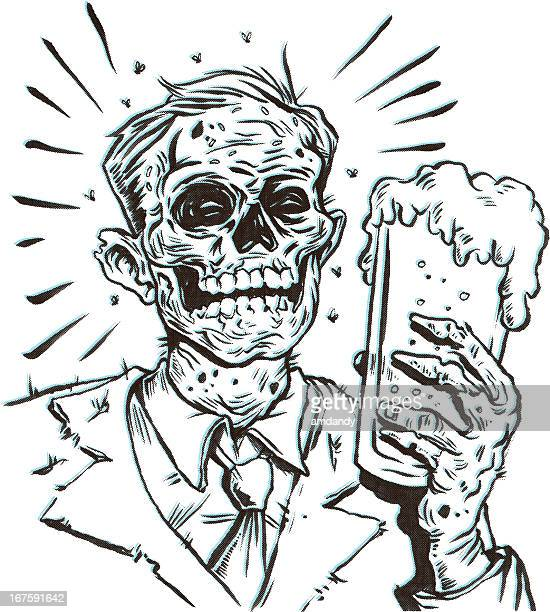 deadly brew - zombie stock illustrations, clip art, cartoons, & icons