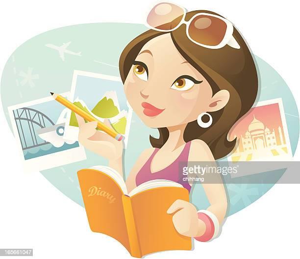dear diary - diary stock illustrations