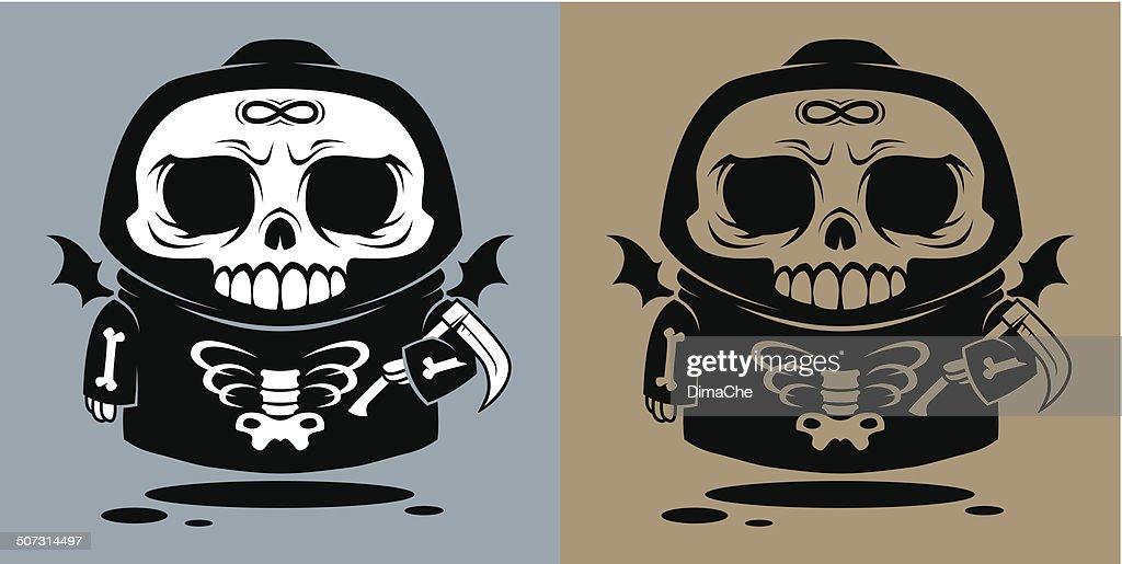 Death angel with a scythe
