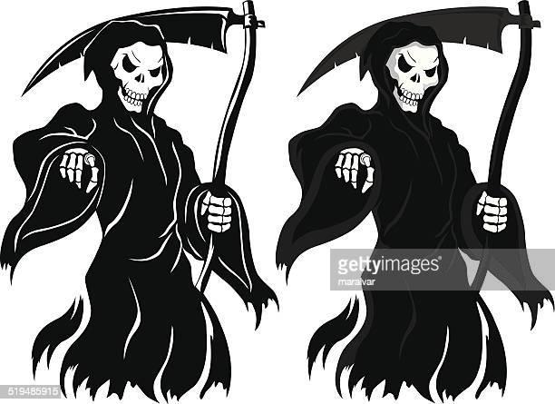 ilustraciones, imágenes clip art, dibujos animados e iconos de stock de muerte la muerte - la muerte