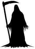 Death holding a scythe vector