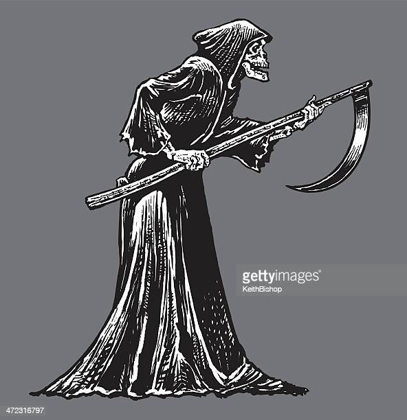 Death or Grim Reaper - Skeleton with Sickle
