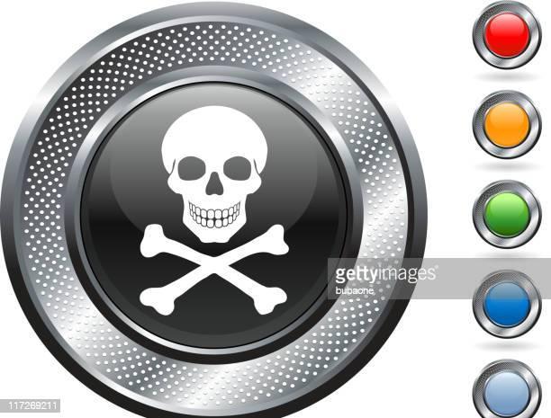 Muerte de arte vectorial libre de derechos sobre metálico botón