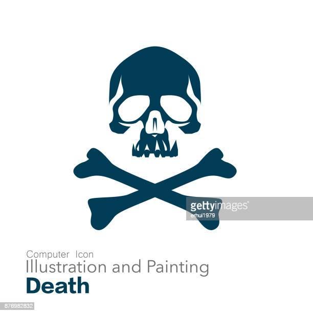 死亡 - 海賊旗点のイラスト素材/クリップアート素材/マンガ素材/アイコン素材