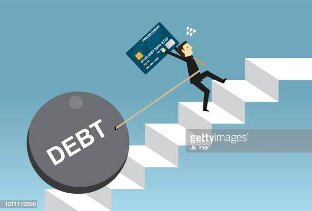debt and exhaustion - housing development stock illustrations