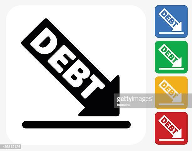 Debt Icon Flat Graphic Design