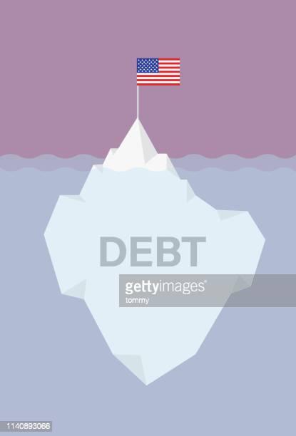 米国の負債-イラストレーション - berg点のイラスト素材/クリップアート素材/マンガ素材/アイコン素材