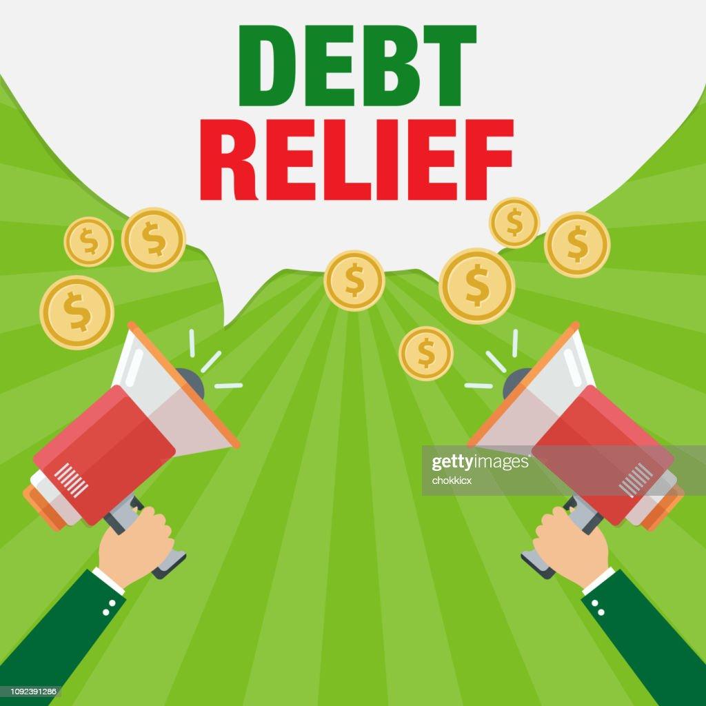Debt Relief : stock illustration