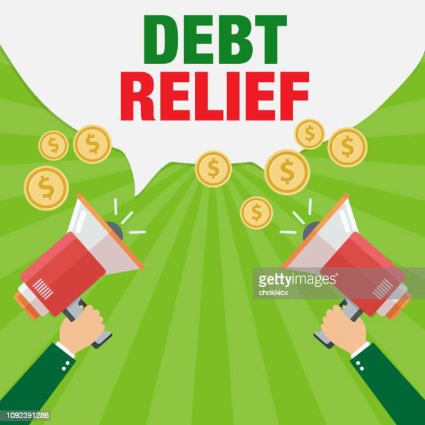 debt relief - relief emotion stock illustrations, clip art, cartoons, & icons