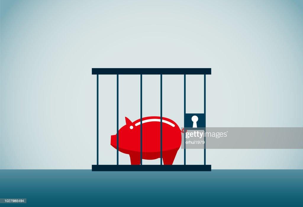 debt : stock illustration