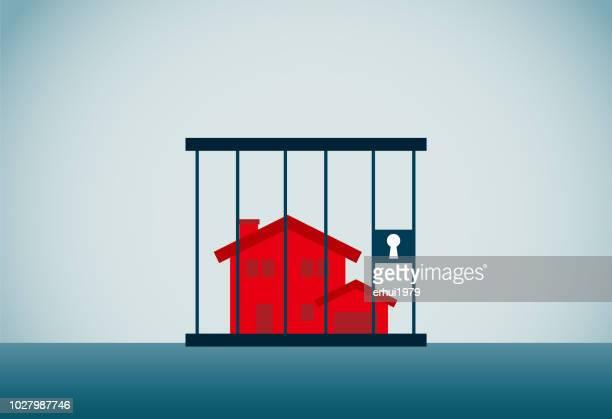 debt - housing development stock illustrations