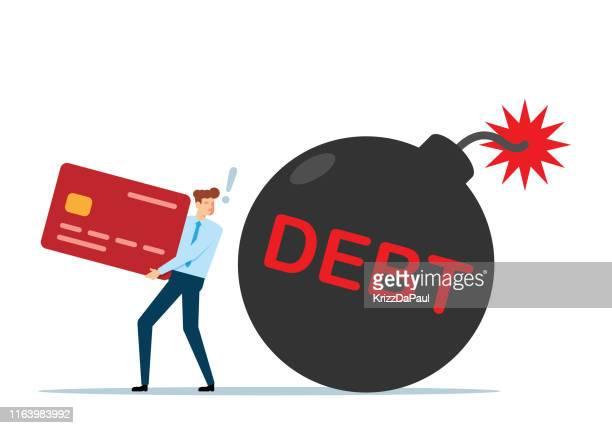 債務 - 爆発物点のイラスト素材/クリップアート素材/マンガ素材/アイコン素材