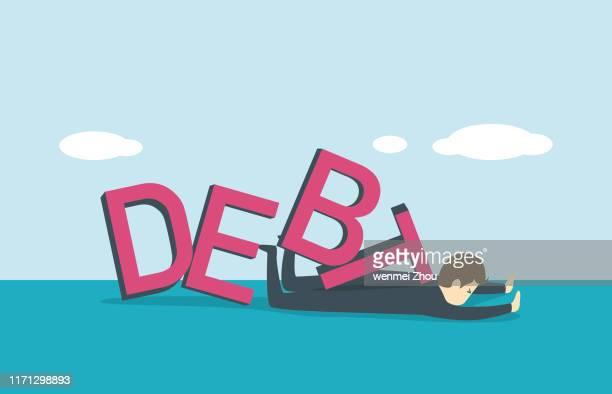 debt - bad luck stock illustrations, clip art, cartoons, & icons