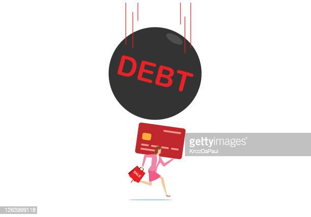 debt - retail employee stock illustrations