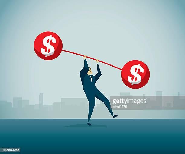 ilustrações, clipart, desenhos animados e ícones de dívida - negócios finanças e indústria