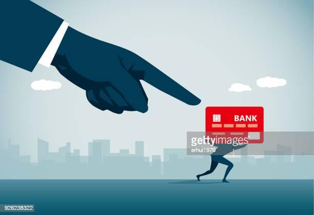 ilustraciones, imágenes clip art, dibujos animados e iconos de stock de deuda - asumir la responsabilidad
