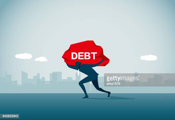 debt - bankruptcy stock illustrations