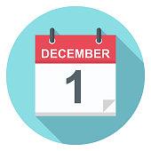 December 1 - Calendar Icon